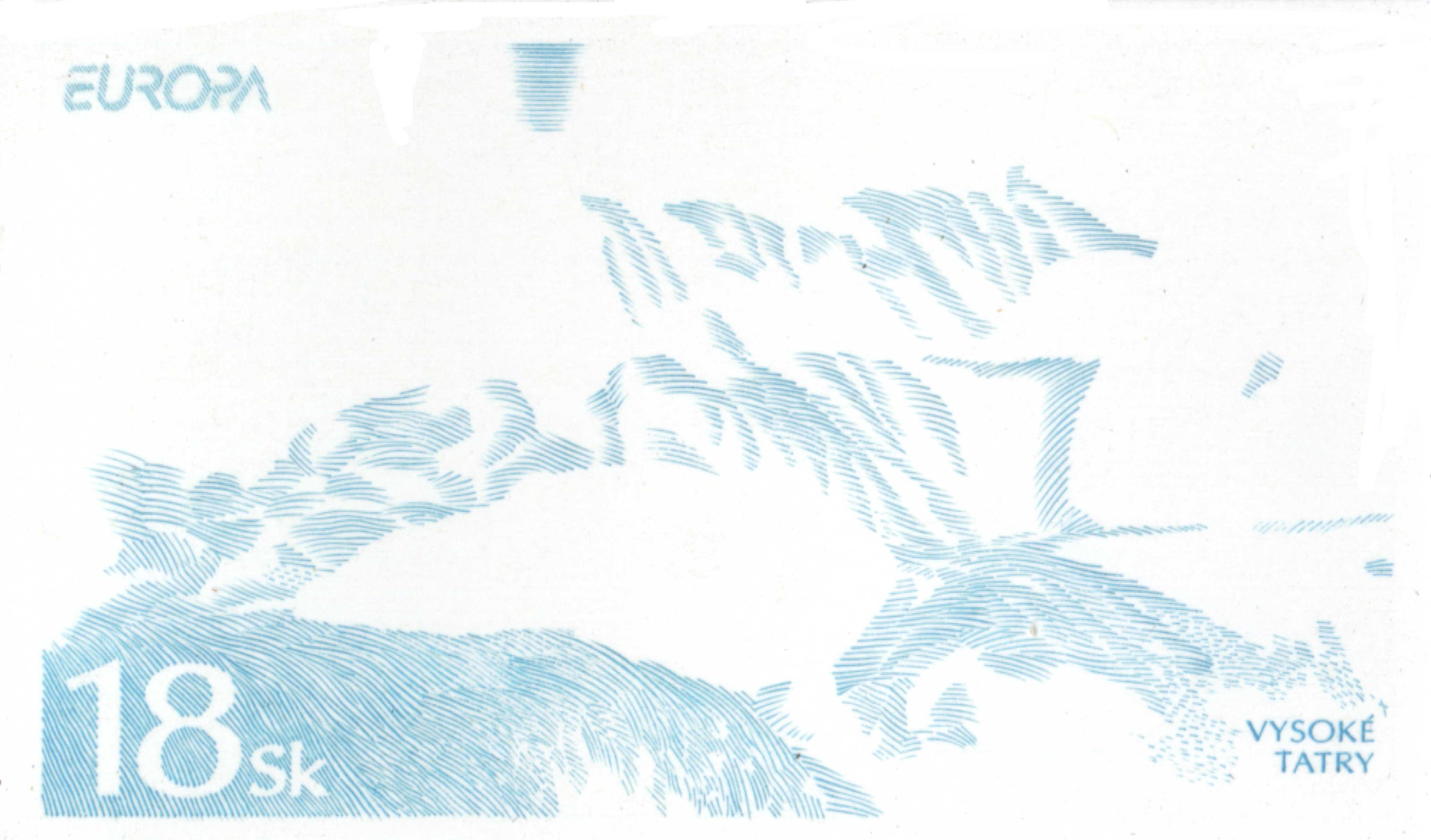odtlačok rytiny modrá farba