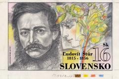 výtvarný návrh známky Ľudovít Štúr