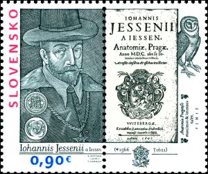 známka 450. výročie narodenia Jána Jessenia